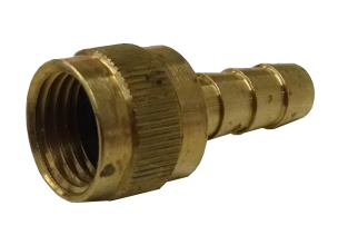 HOSE INSERT & FEMALE SWIVEL (BRASS)